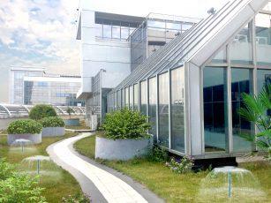 研发总部花园休息区